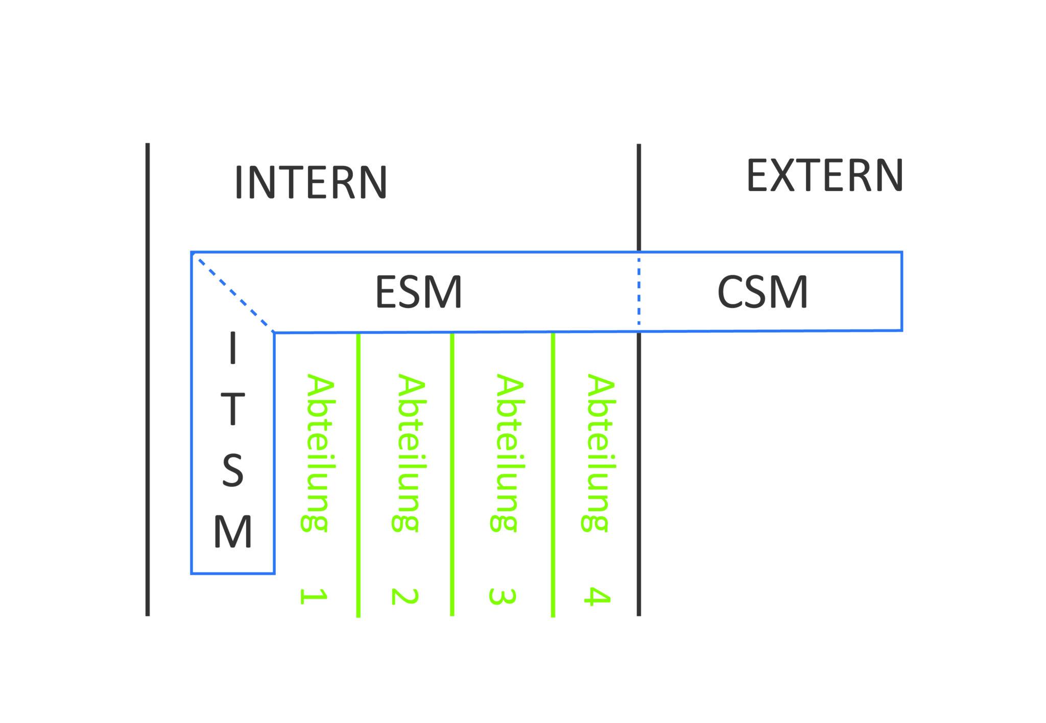 Enterprise Service Management, ESM, ITSM & CSM: Alle sprechen darüber und alle über etwas anderes – Das Definitionschaos